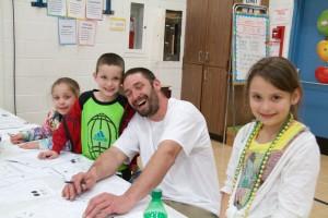 Dave Clark and his children; David, Bella and Brianna